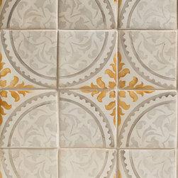 Duquesa Alba Decorative Field Tile in Caramella - Ceramic and Terracotta