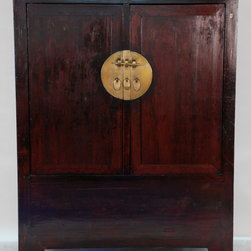 Antique Chinese Ming Style Two Door Large Cabinet - Antique Chinese Ming Style Two Door Large Cabinet