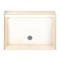 American Standard - American Standard 4242.ST.021 Alcove Shower Base, Bone - This American Standard 4242.ST.021 Alcove Shower Base is part of the Alcove collection, and comes in a beautiful Bone finish. This shower base features an acrylic construction with fiberglass reinforcement, a single threshold, a textured bottom pattern, an integral self-leveling base, an integral three-sided, double tiling edge with water retention flange, a molded-in flood guard, and a PVC showr drain with stainless steel drain plate.
