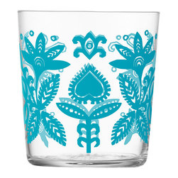Ania Tumblers - I do love glass as a simple material, but I also love when pops of color are added. This glass set is gorgeous. The glass design and the colorful pattern applique make for a perfect design statement in any space of your home. (Vase, people, vase — hint, hint.)