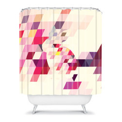 Deniz Ercelebi Bunny Shower Curtain - A graphic punch in the bathroom would help wake me up even on the groggiest of days. I love this pixilated bunny for that effect.