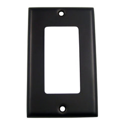 Rusticware - 784 Single Rocker Switchplate - Oil Rubbed Bronze - This Oil Rubbed Bronze switch plate is a stylish piece of hardware that will add to the decor of any room in your home.
