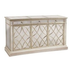 Bassett Mirror - Borghese Mirrored Buffet and Mirrored Door Chest - 8311-767 - Set Inclucdes Buffet and Chest