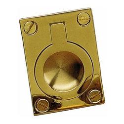 Richelieu Hardware - Richelieu Classic Brass Recessed Bail Pull 34mmx43mm Polished Brass - Richelieu Classic Brass Recessed Bail Pull 34mmx43mm Polished Brass