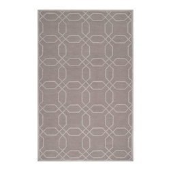 Surya - Mezzo Gray Area Rug - A unique colorful geometric print highlights this hand-tufted wool rug. Mezzo Gray Area Rug By Surya is made of polyester, so it is a great solution for absolutely any home. Features: