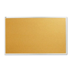 Quartet - Quartet 60 x 36 in. Natural Cork/Fiberboard Bulletin Board with Aluminum Frame M - Shop for Bulletin Boards from Hayneedle.com! The Quartet 60 x 36 in. Natural Cork/Fiberboard Bulletin Board with Aluminum Frame is a functional accessory that will add efficacy and competence to your setting. Made from durable natural cork material this bulletin board is self-healing and long lasting. This board is attractively designed with an aluminum frame which will blend with any decor. You can easily and securely install this board with its heavy-duty mounting system. It s a perfect combination of style and durability for most office settings.About United StationersDedicated to making life in the office more organized efficient and easier United Stationers offers a wide variety of storage and organizational solutions for any business setting. With premium products specifically designed with the modern office in mind we're certain you will find the solution you are looking for.From rolling file carts to stationary wall files every product in the United Stations line is designed with one simple goal: to improve office efficiency. In turn you will find increased productivity happier more organized employees and an office setting that simply runs better with the ultimate goal of increasing bottom line profits.
