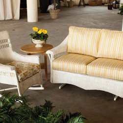 Nantucket Collection - Nantucket Rocker and Love Seat Glider by Lloyd Flanders.