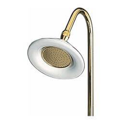 "Renovators Supply - Shower Heads Bright Solid Brass 6 1/2"""" Dia Shower Head 