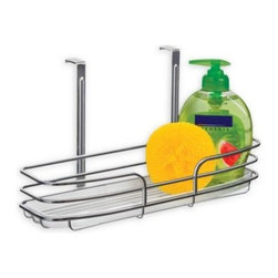 Lynk - Lynk Over Cabinet Door Organizer Single Shelf with Molded Tray - The over door organizer with a molded tray is a compact and versatile way to utilize empty space in cabinets. The organizer secures over any cabinet door in rooms such as the kitchen, bathroom and laundry room.
