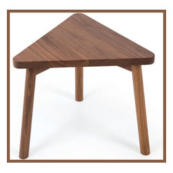 Tone Kids Table - This kids table may be the perfect fit in the corner of your playroom--literally. The unusual triangle shape is sturdy to stand on its own, as well as wedge beautifully into a corner, maximizing your space with panache.