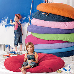Lounge-A-Round and Cover - It would be nice to have a comfy place to sit or lie down inside the playroom tent. These floor cushions are the perfect size and are available in many colors.