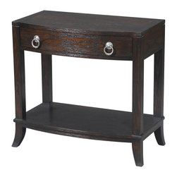 Ambella Home - Manhattan Night Stand - One Shelf - This rich brown nightstand is finished with black highlights that add depth and character. And it's small enough to leave a teeny footprint in your bedroom.