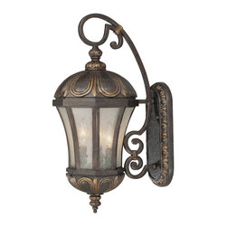 Savoy House - Ponce De Leon Wall Mount Lantern - This lantern is more than just a statement piece; it marries form and function in a such lovely, practical way. You'll love its regal presence outside your home, guiding your way with a magnificent glow.