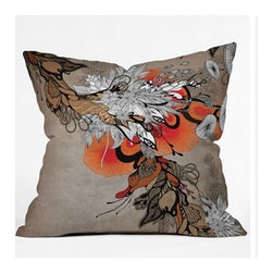 "DENY Designs - Iveta Abolina Sonnet Throw Pillow - Wanna transform a serious room into a fun, inviting space? Looking to complete a room full of solids with a unique print? Need to add a pop of color to your dull, lackluster space? Accomplish all of the above with one simple, yet powerful home accessory we like to call the DENY Throw Pillow! Features: -Iveta Abolina collection. -Material: Woven polyester. -Sealed closure. -Spot treatment with mild detergent. -Made in the USA. -Closure: Concealed zipper with bun insert. -Top and back color: Print. -Small dimensions: 16"" H x 16"" W x 4"" D, 3 lbs. -Medium dimensions: 18"" H x 18"" W x 5"" D, 3 lbs. -Large dimensions: 20"" H x 20 W x 6"" D, 3 lbs."
