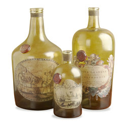 Interlude - Westwood Hills Bottles - These lovely bottles will add some vintage flair to your home. Whether you fill them with flowers, use them for liquid storage or just display them as is, they will charm a room right up.