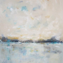 """Recent Paintings - Linda Donohue Fine Art -Seaside Calm 48 x 60 is an original acrylic painting on gallery wrapped canvas. It measures 48 x 60 x 1 21/2""""d and is ready to hang as it is or be put into a frame."""