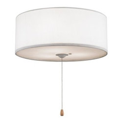 Fanimation LK113WH 14 in. Drum Lampshade Light Kit - White - About Fanimation27 years ago, in a Pasadena garage, Tom Frampton pursued a desire to create innovative, high-quality ceiling fans by producing his very first design, the Punkah. Before long, the market began to take notice of Tom's designs, and Fanimation was born. Today, Fanimation offers its products in over 1,500 retail stores and 33 countries. Fanimation's unique designs have been used in magazines such as Vanity Fair and Modernism, as well as gracing both the large and small screens on HGTV and Extreme Makover Home Edition, and the film I, Robot.