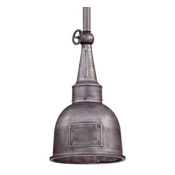 """Troy Lighting - Troy Lighting F2947 Raleigh 1 Light 17"""" Industrial Outdoor Pendant - Troy Lighting F2947 Raleigh 1 Light 17"""" High Outdoor PendantThese industrial styled exterior wall sconces will look great in the right setting.Troy Lighting F2947 Features:"""