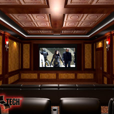 Traditional Rendering by CinemaTech Theater Seating, Design & Acoustics