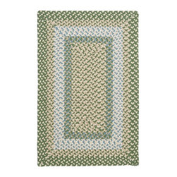 Colonial Mills - Colonial Mills Montego MG19 Lily Pad Green Rug MG19R024X036R 2x3 - Step outside and have some fun with the vibrant colors and practicality of this contoured rectangle braided-texture rug! Make a statement with color that wonet fade or stain.