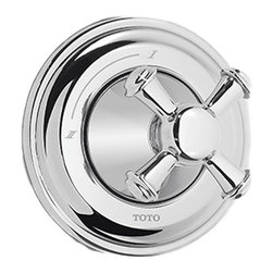 Toto - Toto TS220DW#CP Vivian Two-Way Diverter Trim - Cross Handle - Toto's TS220DW#CP is a Vivian Two-Way Diverter Trim - Cross Handle from the Vivian series, and it comes with a beautiful Polished Chrome finish. This 2-way diverter trim features a cross handle, and is designed for use with the Two-Way diverter valve.