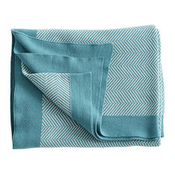 GRAPHIC THROW – BLUE CHEVRON - NEW - So soft you'll never want to snuggle up or wrap yourself with anything else! Thin, this throw is light and airy. Toss it upon your bed or sofa for added color and comfort, or wrap yourself up for style and warmth. Made of 100% cotton and machine washable, this blanket is the ultimate cuddle buddy.