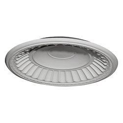 "Ekena Millwork - Dublin Recessed Mount Ceiling Dome (24 1/2""Diameter x 3 1/4""D Rough Opening) - 26 7/8""OD x 25""ID x 3 7/8""D Dublin Recessed Mount Ceiling Dome (24 1/2""Diameter x 3 1/4""D Rough Opening). Urethane ceiling domes enhance interiors with rich texture and traditional appeal. Many of our urethane ceiling domes include classic decorative details, ranging from floral motifs to crisp moulding. Whether you seek something subtle or ornate, we have a urethane ceiling dome for you. Each ceiling dome is factory primed and ready for your paint or faux finish. Each dome is manufactured out of a high density urethane foam, which is great for durability, but is also lighter than other materials to make installation a snap. Enhance your room with a beautiful ceiling dome focal piece."