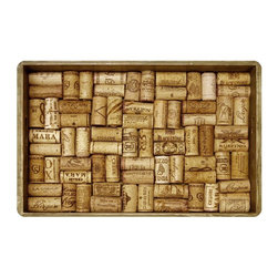 Bungalow Flooring - Corks in a Box Cushion Mat - Made to order. Graphic mat adds comfort and style. Machine washable. For indoor use. 18 in. L x 27 in. W x 0.3 in. H