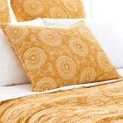 Pine Cone Hill - uma resist sham (gold) - This item comes in��gold.��This item size is��euro or std.