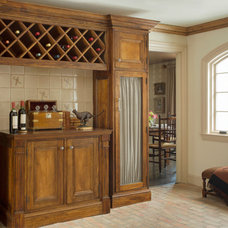 Traditional Wine Cellar by Catherine & McClure Interiors