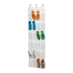 Honey Can Do - Honey Can Do 24 Pocket Over the Door Shoe Rack Multicolor - SFT-01423 - Shop for Closet from Hayneedle.com! About Honey-Can-DoHeadquartered in Chicago Honey-Can-Do is dedicated to helping you organize your life. They understand that you need storage solutions that are stylish and affordable at the same time. Honey-Can-Do focuses on current design trends and colors to create products that fit your decor tastes while simultaneously concentrating on exceptional quality. When buying a Honey-Can-Do product you can be sure you are purchasing a piece that has met safety control standards and social compliance methods.