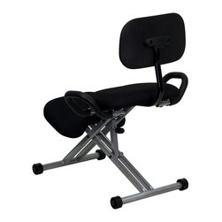 Flash Furniture - Flash Furniture Office Chairs Kneeling Chairs X-GG-9343-LW - Regain your body's natural posture with this ergonomic kneeling chair with included back. A kneeling chair offers relief for people who experience lower back pains. Kneeling chairs sit you in a position to allow your diaphragm to move efficiently and promote better breathing and blood circulation. Use as your permanent office chair or to take a break from your conventional chair. [WL-3439-GG]