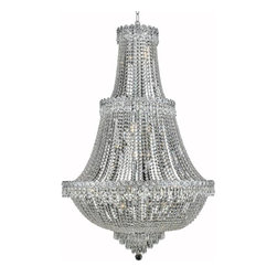 "PWG Lighting / Lighting By Pecaso - Agathe 17-Light 30"" Crystal Chandelier 1615G30C-EC - This classical Agathe Crystal Chandelier with flowing symmetrical shape and nearly invisible frame offers a striking surge of brilliant light. Sconces and ceiling mounts enhance your room decor."