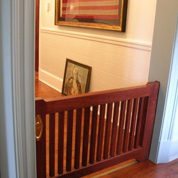 Custom Pocket Dog Door - This client had a need for a gate, but hated having one either hinged or stationary.  We designed and built a pocket door that could be slid away an hidden.