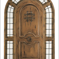 Western / Sante Fe Entry Doors Model # SW1100 - Looking for a Rustic look to fit your Tuscan, Mediterranean, or Spanish Style home?  Look no further.  Our Western / Santa Fe doors are what you need to complete you the rustic aged look you desire.  Doors are constructed of North American Knotty Alder with features like Speakeasy's, Clavos, Rustic Hardware, and V Groove Planking.   They are available unfinished, finished, or distressed and finished in a variety of colors.  We also over a wide selection of sidelites to complete the ultimate look!