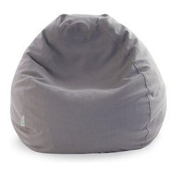 Indoor Gray Wales Small Bean Bag