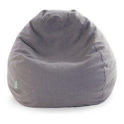 Majestic Home - Indoor Gray Wales Small Bean Bag - So you thought the beanbag was for hippie pads only? Not this sophisticated piece — it's got all the plop-worthy comfort your crowd craves yet actually looks elegant. Best yet, the linen-blend slipcover zips off for easy cleaning.