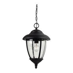 Sea Gull Lighting - Sea Gull Lighting 60068-12 Lambert Hill Black Outdoor Hanging Lantern - Sea Gull Lighting 60068-12 Lambert Hill Black Outdoor Hanging Lantern
