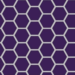 "SheetWorld - SheetWorld Fitted Pack N Play Sheet - Purple Honeycomb - Made in USA - This beautiful 100% cotton ""woven"" pack n play (large) sheet features a purple and white honeycomb print. Size of each comb is about 1 inch. Our sheets are made of the highest quality fabric which are soft and durable. They have deep pockets and are elasticized around the entire edge which prevents it from slipping off the mattress, thereby keeping your baby safe. These sheets are so durable that they will last all through your baby's growing years. We're called SheetWorld because we produce the highest grade sheets on the market. Size: 29.5 x 42."