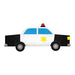 My Wonderful Walls - Police Car Wall Sticker Decal, Left Facing - - police car wall sticker