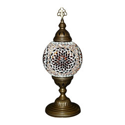 Art-Win Lighting T10015 Handmade Mosaic Table Lamp, Brown - Handmade in Istanbul, Turkey. Hand-crafted item is produced with glass-on-glass technique. Tradition of centuries is now available for you. Fine handmade mosaic lamps that require years of experience and specialized craftsmanship are carefully manufactured by Art-Win Lighting.