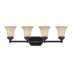 Savoy House Lighting - Savoy House Lighting Bath Bar Traditional Bathroom Light X-31-4-00506-P8 - This transitional collection has a rich English Bronze finish perfectly complemented by Tinted Scavo glass.