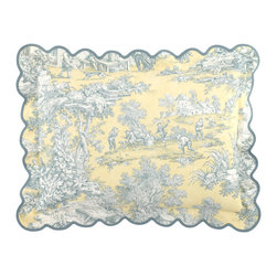 Legacy By Friendly Hearts - Scalloped Toile Standard Sham - Legacy By Friendly HeartsScalloped Toile Standard Sham
