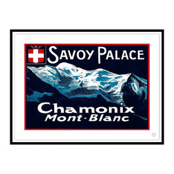 Studio Eight - Contemporary Modern Transitional Fine Art,  SAVOY PALACE, CHAMOIX, Black Leaf - SAVOY PALACE, CHAMOIX.