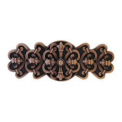 Notting Hill DH - Chateau Cabinet Pull in Antique Copper (NHP676-AC) - Chateau Cabinet Pull in Antique Copper
