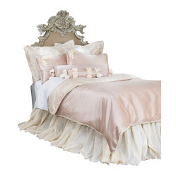 "Glenna Jean - Ribbons and Roses Reversible Cream Velvet and Pink Childrens Duvet - The Ribbons and Roses Reversible Cream Velvet and Pink Childrens Duvet by Glenna Jean will look great in any child's room. The Twin Duvet Cover measures 62"" x 91"". The Full/Queen Duvet Cover measures 87"" x 91""."