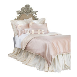 Glenna Jean - Ribbons and Roses Reversible Cream Velvet and Pink Children's Duvet Full/Queen - The Ribbons and Roses Reversible Cream Velvet and Pink Children's Duvet by Glenna Jean will look great in any child's room.