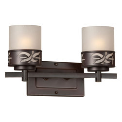 2 Light Bath Bracket in Antique Bronze Finish by Forte (frte_5134-02-32) - Product Highlights