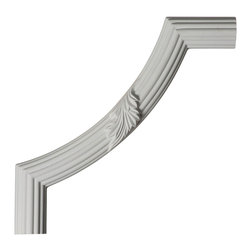 """Ekena Millwork - 12""""W x 12""""H x 1 1/8""""P Reeded Acanthus Leaf Panel Moulding Corner - 12""""W x 12""""H x 1 1/8""""P Reeded Acanthus Leaf Panel Moulding Corner. Our beautiful panel moulding and corners add a decorative, historic, feel to walls, ceilings, and furniture pieces. They are made from a high density urethane which gives each piece the unique details that mimic that of traditional plaster and wood designs, but at a fraction of the weight. This means a simple and easy installation for you. The best part is you can make your own shapes and sizes by simply cutting the moulding piece down to size, and then butting them up to the decorative corners. These are also commonly used for an inexpensive wainscot look."""