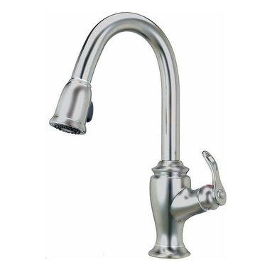 Artisan Manufacturing - Artisan Premium Pull-out Satin Nickel Faucet - AF-320-SN Artisan Manufacturing Premium Pull-out Satin Nickel (shown In Chrome) Faucet